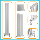 Traditional White Triple Column Radiator Classic Cast Iron Style Central Heating