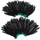 12/24 Pairs PU Nylon Safety Coating Work Gloves Builders Grip Palm Protect S M L