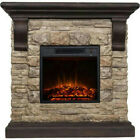 "PALLET SHIPPING ~ Polyfiber Electric Fireplace with 41"" Mantle (WORKING)"