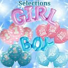 SELECTIONS BABY GIRL BOY SHOWER Foil Balloons Decor Birthday Party Supply lot BA