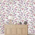 Holden Decor Charm White Multi Humming Bird Wallpaper 12390