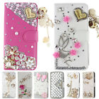 Luxury Bling Diamond Soft Inner Flip Leather Wallet Case Stand Cover For Huawei