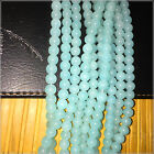 DIY  8mm lucky loose blue Beads for  Jewelry  Necklace bracelet 15''One Strand