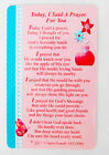 Today I Said A Prayer For You Wallet Keepsake Card Friend Religious Gift