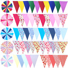 Fabric Bunting Wedding Shabby Chic Vintage Party Christening Handmade 10ft  20ft