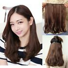 Womens Nature Daily Hair Extension 5 Clips in Medium Long Wavy Curly Hairpieces