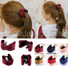 Fashion Women Girl Cloth Bow Hair Clips Claws Ponytail Holder