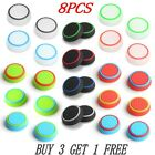 8X SILICONE THUMB STICK GRIP COVER CAP FOR SONY PS4 PS3 XBOX ONE 360 CONTROLLER
