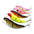 11CM/15G Minnow Fishing Lures Plastic baits 3 jointed Segments Fishing Tackle7Z9