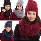 Accessories set hat neck warmer cap scarf glitter new ST-105