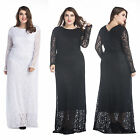 all white cocktail party dresses - Sexy All lace Long Sleeve Maxi Dresse evening Cocktail party women Long Dresses