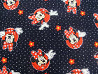 Disney MINNIE MOUSE 100% cotton fabric : Black polka dots by the 1/2 metre