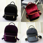Casual Velvet Girls Womens Backpack Shoulder Bag Rucksack Travel School bags Set