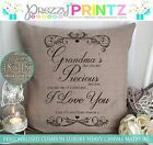 PERSONALISED MOTHERS DAY GRANDMA NANNY CUSHION CHRISTMAS PRESENT GIFT CANVAS