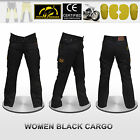 Women Motorbike Cargo Trousers Pants Reinforced with Yellow Protective fiber