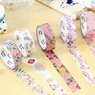 DIY Floral Washi Sticker Decor Roll Cute Paper Masking Adhesive Tape Crafts Gift