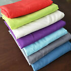 Clearance Solid Flat Sheet Cotton Blend Full Queen Size School Dorms Sheet Sale image