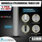 Rondella Cylindrical Table Leg from Hafele metal 4 pcs new black chrome white