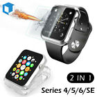 Apple Watch Series 3 38/42mm Tempered Glass Screen Protector+Soft Clear TPU Case