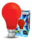 5W LED RED GLS Light Bulb B22 Bayonet Very Bright Coloured A60