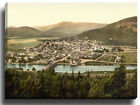 Canvas Print Wall Art Picture Ballater, From Craigcoynach, Scotland