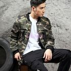 Mens Boys Fashion Camouflage Baseball Jackets Coats Autumn Zipper Casual Clothes