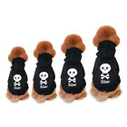 Внешний вид - Black Skull Small Hoodie Apparel Clothes Coat CostumeWinter Warm Pet Puppy Dogs