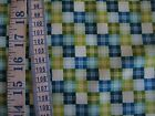 Blue and Green Check 100% cotton Fabric from Studie E