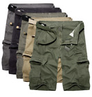 Men's Military Army Combat Trousers Tactical Work Pocket Camo Pants Cargo Shorts