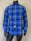 NWT Polo Ralph Lauren Plaid Cotton Oxford Shirt Blue Screen w/ Multicolor Pony