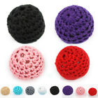 10pcs Crochet Wood Beads 20mm Handmade Knitted Accessory Baby Toy
