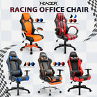 Recliner Office Chair Racing Gaming High Back Footrest Headrest Lumbor Support