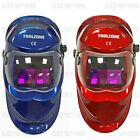 AUTO SOLAR DARKENING WELDING HELMET WELDERS MASK ARC TIG MIG RED OR BLUE NEW