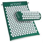 Acupressure Mat and Pillow Set Back Neck Pain Stress Relief Muscle Relaxation LK