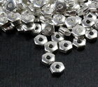 TierraCast Hex Heishi Beads, Spacer Beads, Silver Plated, 50-500 Piece, 1111