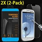2-Pack Premium Real Tempered Glass Screen Protector for SAMSUNG Galaxy S4 S5 S6