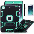 Shockproof Defender Heavy Duty Hybrid Rubber Case Cover for iPad Mini Air Pro