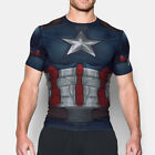 Under Armour Captain America Alter Ego Compressione Uomo T-Shirt Top