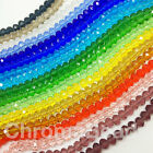 3x2mm glass crystal faceted Rondelle / Abacus beads ~15 inch strand, ~200 beads