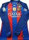 2016 2017 FC BARCELONA MESSI NEYMAR JR LONG SLEEVE STADIUM HOME JERSEY S M L XL