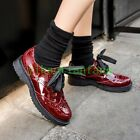 Womens Brogue Wing Tip British Shoes Lace Up Pumps Low Top Casual 2017 College