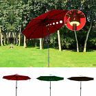 9FT Patio Umbrella Solar LED Garden Outdoor Market Sunshade Crank Tilt Bluetooth