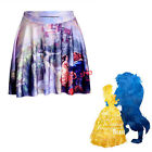 Beauty And The Beast Fancy Dress Womens Cosplay Costume Swing Flared Skirt Dress