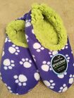 Snoozies, So Soft, Non-skid Soles, Paw Print, Large (shoe Size 9-10)
