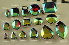 36p siam ab Rhinestones Sewing On Crystal Faceted glass Navette/teardrop Jewels