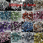 1000/10000p Resin Crystal Round color Rhinestones Flatback beads 2/2.5/3/4/5/6mm