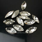 36p clear Navette stones point back crystal glass trhinestone nail art beads pk