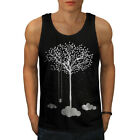 Wellcoda Tree Cloud Space Nature Mens Tank Top, Dream Active Sports Shirt