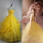 2017 Movie Beauty and The Beast Belle Princess Dress Cosplay Costume Dresses