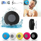 6W 5V Wireless Bluetooth Handsfree Waterproof Mic Suction Speaker Audio Player